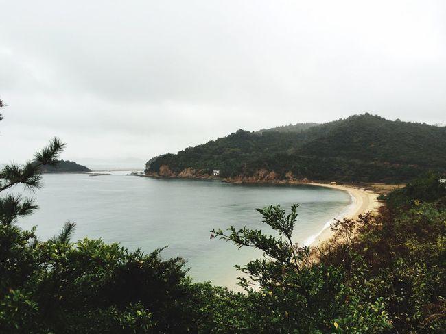 Naoshima Benesse Art Museum Island Coast Foggy Rain Grey White Sky