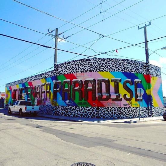 Miami Street Art Multi Colored City Wynwood