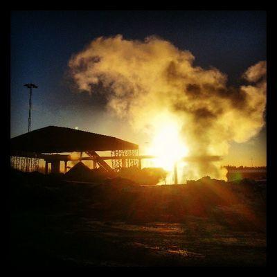 Ohh noo... not a foggy one again... ;-) Dannemora Sky Beautiful Sun amazing sunset sunriseindustrie