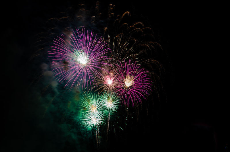 Year Fire New Display Night July Celebration Firework Party Birthday Holiday Event Festival Explosion Background Colorful Exploding Color Bright Sky Pyrotechnics Blue Happy Isolated Show Yellow Gold Red White Dark Golden Fiesta Text Sparks Wallpaper Celebrate Festive Black Countdown Abstract