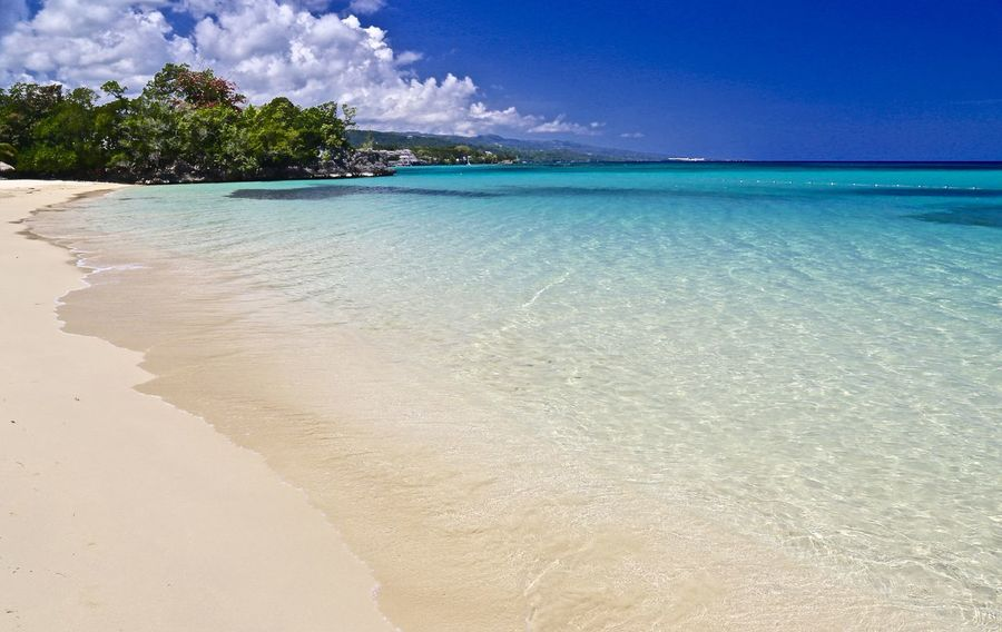 Beach - Jamaica Inn. Beach Blue Horizon Over Water No People Sand Sea Seascape Shore Sky Tranquil Scene Water