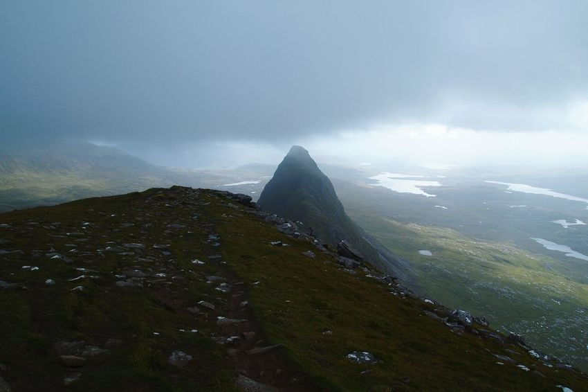 Solo up Suilven in howling gale. Scotland Misty Landscape_photography Hillwalking Scottishrowan Showcase: January