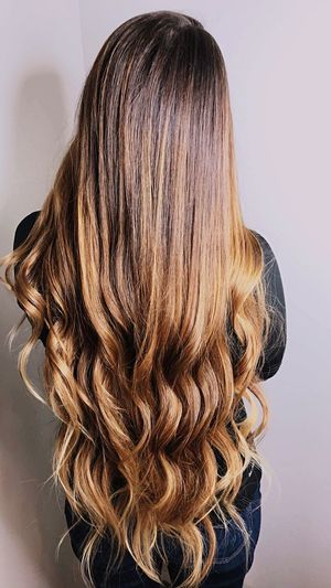Mermaid hair Redken Aggies College Station Hairstyle Hairstylist Balayage EyeEm Selects Rear View Long Hair Human Hair Hairstyle Women