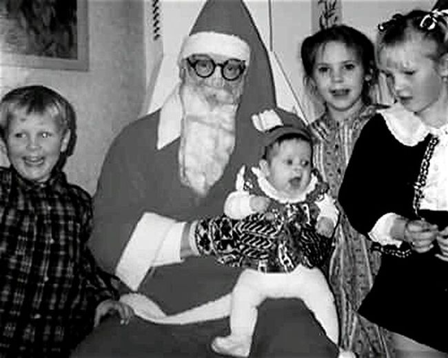 Shades Of Grey Boxing-day Christmas Joy St Claus And Happy Children Expectations Family Joy Cousins