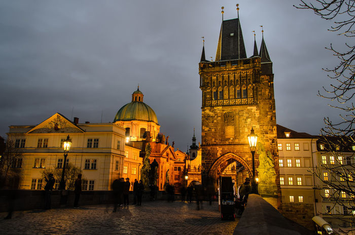 Karlův most Karlův Most Czech Republic Prague Architecture Building Exterior Built Structure City Clock Tower Cloud - Sky History Illuminated Karlsbrücke Large Group Of People Men Nature Night Outdoors People Place Of Worship Real People Religion Sky Spirituality Travel Destinations