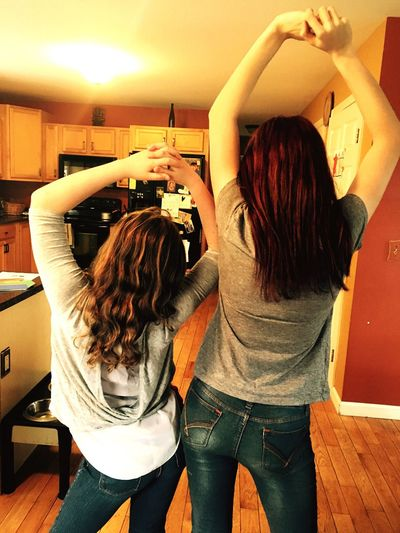 My Daughter ♥ Maine Auburn, Maine, USA Love Sisters Redhead Tall Short Big Sister Lil Sister Love Family EyeEm Gallery