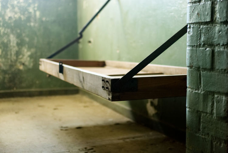 Seat On Wall In Prison Cell