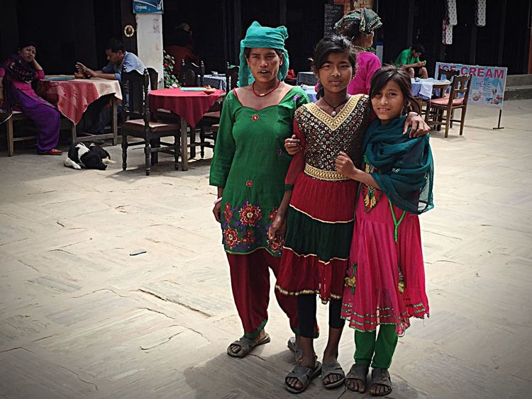 Holiday POV Nepali Ladies in Traditional Dress