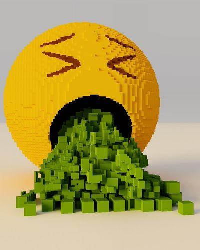Bad day, emoji Resaca Hangover Emoji Connection Technology Communication Yellow Computer Network Architecture Internet Creativity Digital Composite