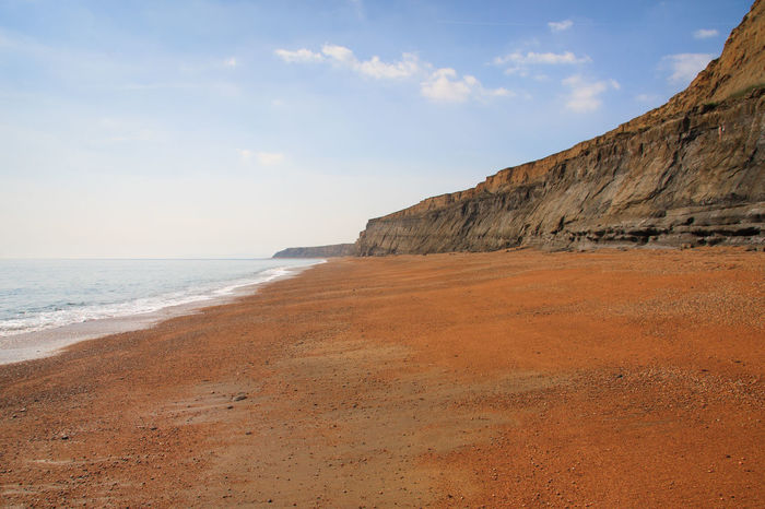 Whale Chine Beach, Isle of Wight Beach Cliffs Coastal Coastal Landscape Day Isle Of Wight  Landscape Nature No People Orange Outdoors Sand Scenics Sea Terracotta Color Whale Chine