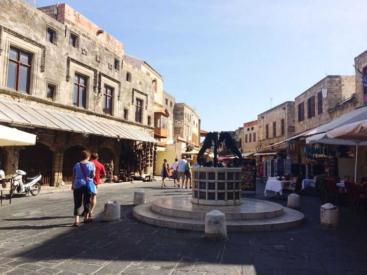 Town Square Rhodes Old Town Old Buildings Medieval Town Castle Castle Ruin