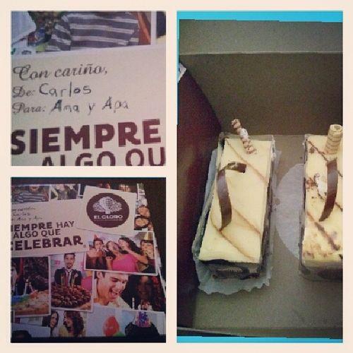 Todo lo bueno para ama y apa Elglobo  pastel Amayapa Rico regalo sonlosmejores