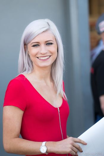 Looking At Camera Portrait Woman Model Pitlane Grid Girl Beautiful Gridgirls Britishsuperbikes Cheerful One Person Smiling Standing Young Women Indoors  Dyed Hair Young Adult Beautiful Woman Close-up Day