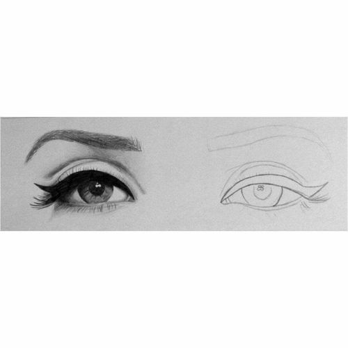 Human Eye Human Face Creativity Beauty Drawer Draw Portrait Drawing Drawingtime Drawingart Drawingoftheday Drawingwork Drawn By Me Drawing, Painting, Artwork Eyesight Eyelash LanaDelRey