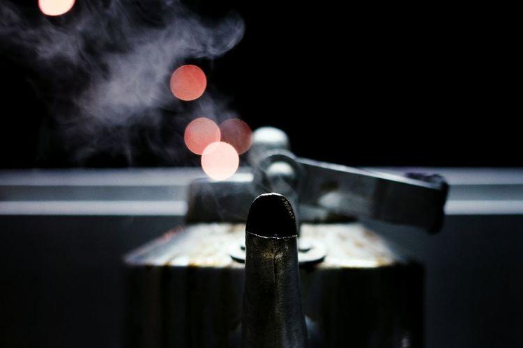 Close-up of kettle spout