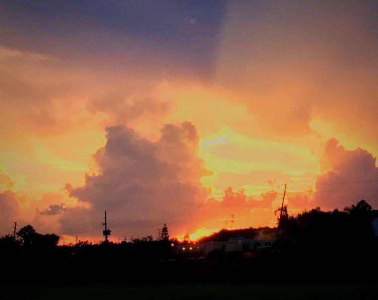 Sunrise or sunset?; color palette