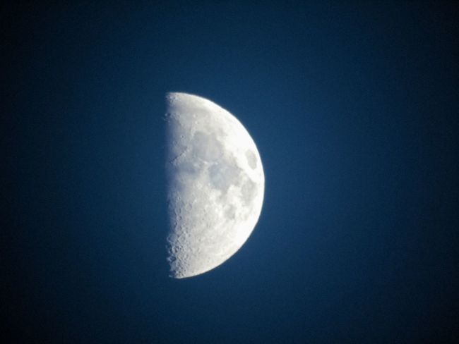 Moon Night Astronomy Moon Surface Beauty In Nature Nature Space No People Half Moon To Nights Moon