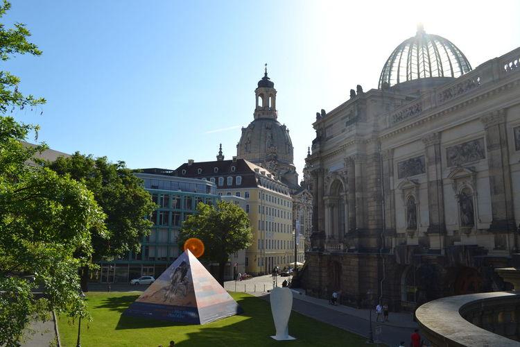 Dresden Glaskuppel Old Buildings Architecture Construction Garten Sonne Dresten