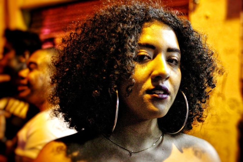HUAWEI Photo Award: After Dark Portrait Headshot Beautiful Woman Young Women Human Face Yellow Happiness Front View Close-up Thoughtful Pretty Pensive Contemplation Thinking Afro