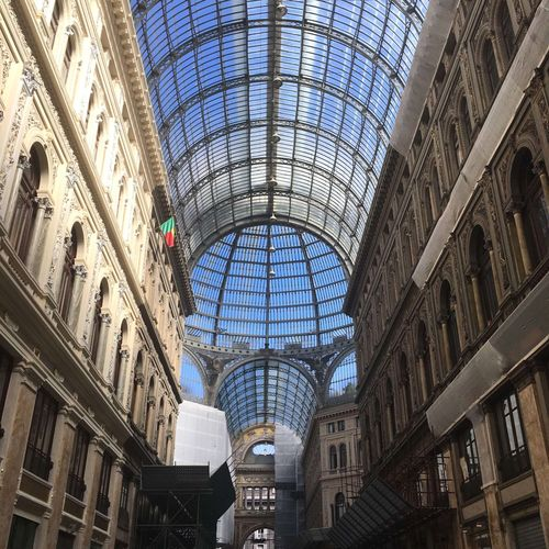 No People Napoli Our Best Pics Simple Photography Waling Around Outdoors City Tranquility April Showcase Architectural Detail Historical Building Galleria Clear Sky Architecture Architecture_collection Italy❤️ Love ♥ Showcase April