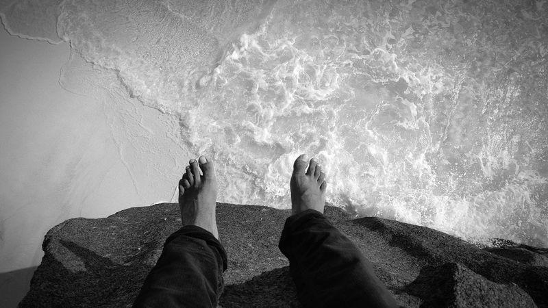 Birds Eye View Sea Beach Ocean Black & White Waves Foot Alternateview Seychelles Ladigueisland