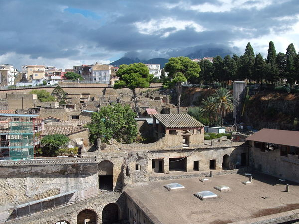 Ancient Civilization Culture Herculaneum Italy Outdoors Roman Ruins Vesuvius  Volcano