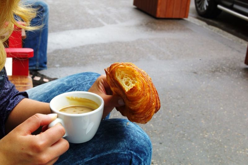 Breakfast Briosche Corasan Food And Drink Holding Cup Coffee Cup One Person Real People Mug Food Coffee - Drink Human Hand Women A New Beginning