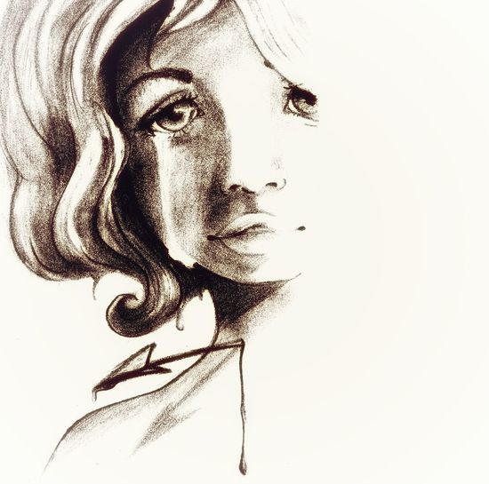 Credits: Sonia Dei Rocini Tears Teardrops Sad Blue Wintertime Sadness Arrow Pierced Stabbed In The Heart Moody Sketch Sketchbook Drawing Sepia Human Face Only Women Adult Adults Only One Woman Only One Person Young Adult People Portrait Human Eye Gasping