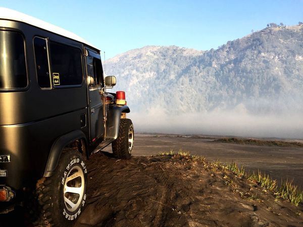 Jeep in Bromo Mountain Outdoors Nature Sky Landscape Adventure Bromo Mountain Indonesia