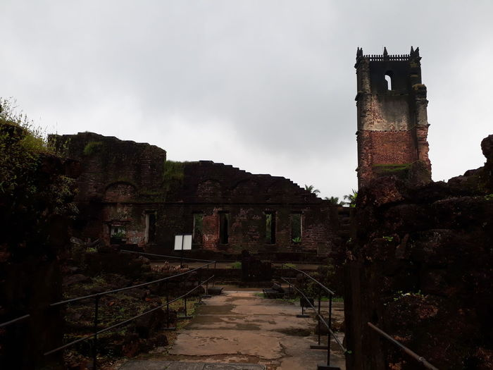 Ruins of St Augustine Church, Goa India EyeEmNewHere Architecture Built Structure Building Exterior Sky Abandoned History The Past Building Damaged Old Run-down Cloud - Sky Deterioration Obsolete No People Nature Old Ruin Decline Ruined Weathered Outdoors Ancient Civilization Demolished