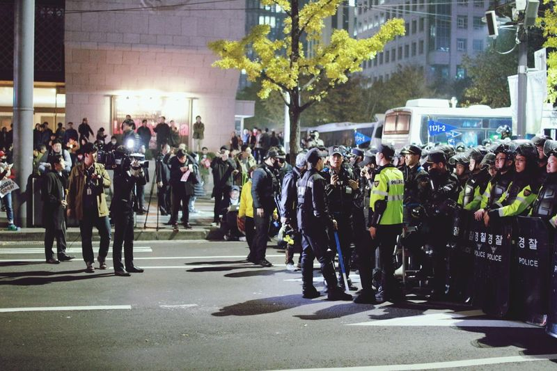 Large Group Of People police City 시위 People Democracy EyeEmNewHere