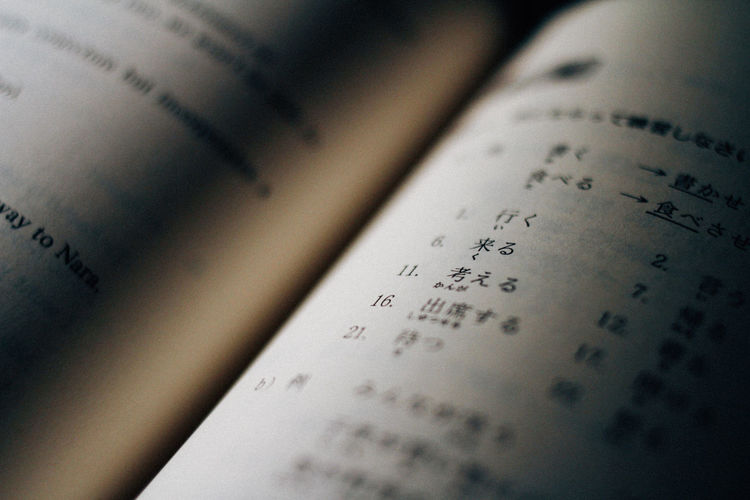 Book Books Close-up Japanese  Japanese Language Pages Pages Of A Book Reading Studying Text Textbook