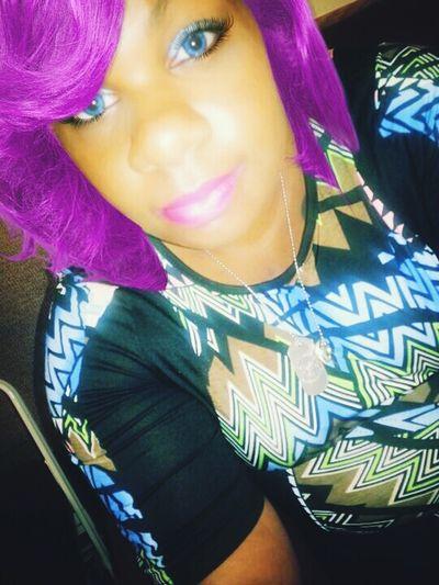 Purple Hair Purplewig