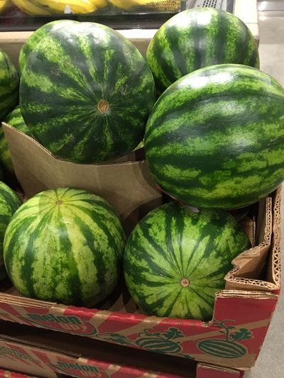 Close-up Day Food Food And Drink Freshness Fruit Fruits Green Color Healthy Eating Juicy Market Melon Melons No People Organic Outdoors SeedLess Seedless Watermelon Striped Pattern Stripes Pattern Sweet Watermelon Whole