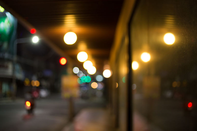 Architecture Background Bokeh Bokeh Car Ceiling City Defocused Direction Electric Light Glowing Illuminated Indoors  Land Vehicle Light Lighting Equipment Mode Of Transportation Motor Vehicle Night No People Public Transportation Road Street Transportation