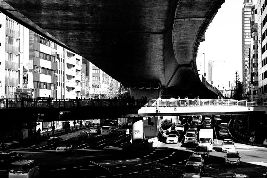 Street Streetphotography Blackandwhite Street Photography Capture The Moment Light And Shadow Monochrome EyeEm Best Shots Film Photography Monochrome Photography Tokyo Street Photography Leicacamera Transportation Connection Architecture Bridge - Man Made Structure Built Structure Engineering Mode Of Transport Day Public Transportation Outdoors No People Sky Passenger Boarding Bridge