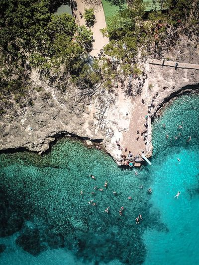 High Angle View Of Sea And Shore
