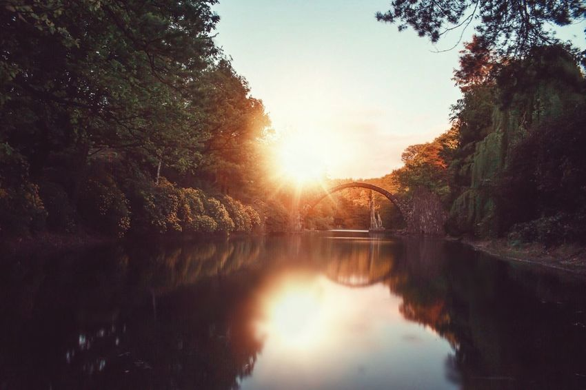 Diese Brücke.. 💛 Rakotzbridge Rakotzbrücke Check This Out Hello World Taking Photos Enjoying Life EyeEm Nature Lover Sunset Sunset_collection Landscape_Collection Landscape Wolrd Worldplaces Beautiful
