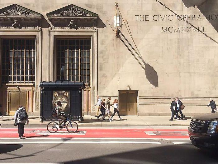 Bike Chicago Architecture Cityscape Everyday Lyric Opera Poster Relaxing Street Street Scene USA Wolfzuachis