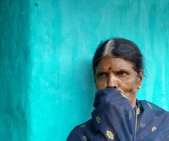 India Kerala Blue Woman Faces Of India Faces Color Portrait