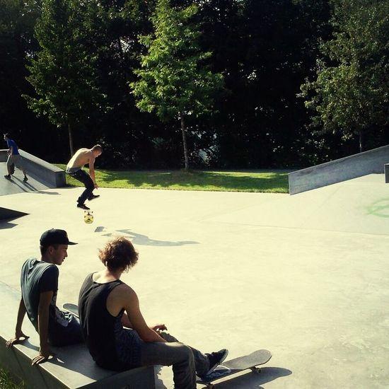 Skateboarding Enjoying Life Hanging Out Holiday