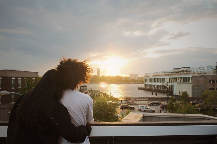 best couple Backlight Love Moment Romance Lovely Highline Manhattan New York Sunset Couple