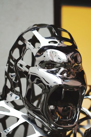 Gorillart Close-up No People Indoors  Still Life Focus On Foreground Technology Metal Reflection