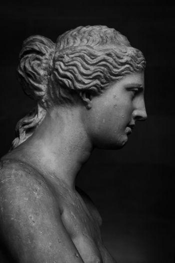 Black & White Black And White Blackandwhite Bust  Close-up France HEAD Human Body Part Louvre Marble Paris Sculpture Statue Venus Venus De Milo