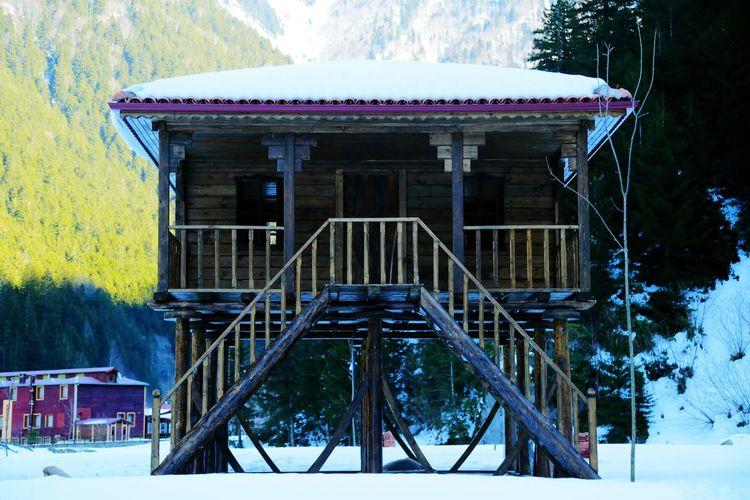 Trabzon Uzungöl Kulübe Dağ Kulübesi Kar Snow