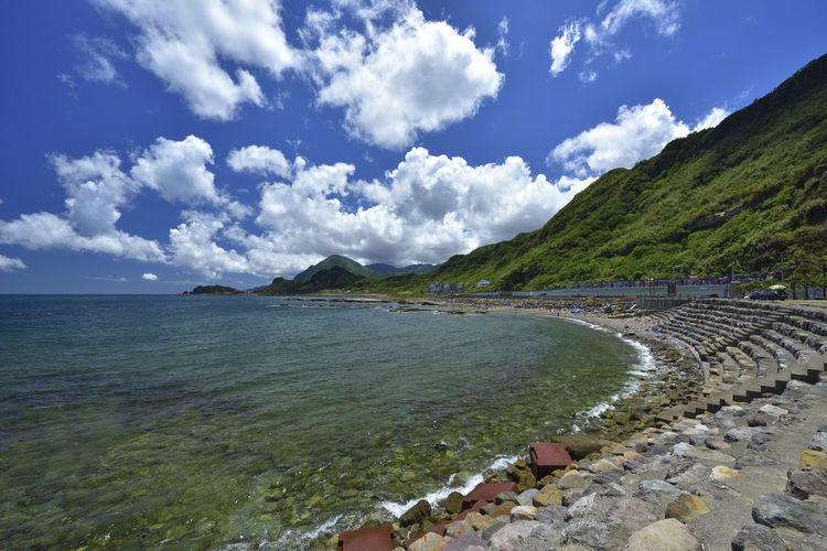Broad Chinese Taipei Eight Bucket Taiwan Travel Beauty In Nature Cloud - Sky Coastal Day Keelung Mountain Nature No People Outdoors Scenics Sea Sky Tranquil Scene Tranquility Water