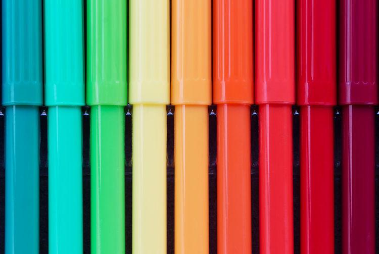 Full frame shot of colorful felt-tip pens