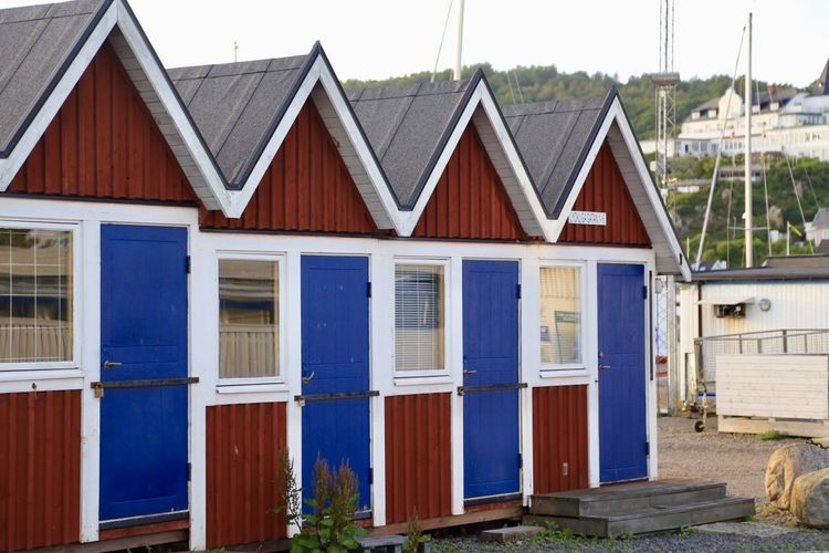 Architecture Blue Door Blue Doors Building Exterior Built Structure Cottages Day Doors Facades Façade Harbor House Huts Multiple No People Outdoors Seaside Wooden Wooden House Wooden Houses