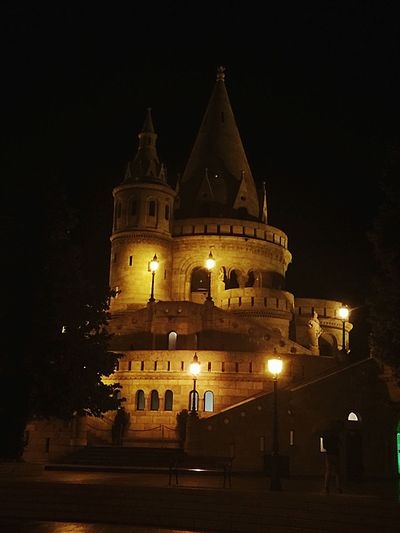 Fisherman Bastion Budapest Hungary Tower Nightphotography