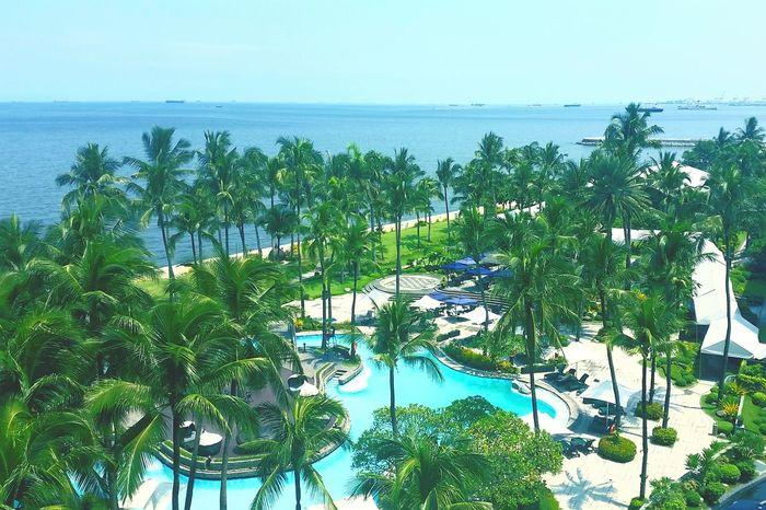 Sofitel Manila Philippines Manila Bay  Sofitelmanila Checkedin Pool Blue